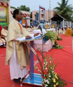 Priests concelebrating mass