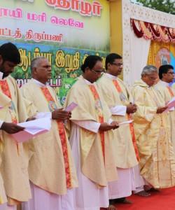 Bishop celebrating mass